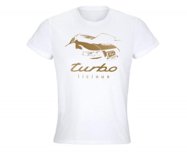 Turbolicious_T-Shirt_weiss_gold_Damen
